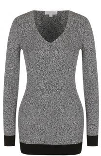 Удлиненный облегающий пуловер с V-образным вырезом Escada Sport