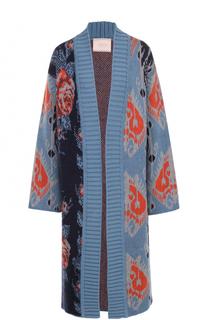 Удлиненное вязаное пальто с принтом Tak.Ori