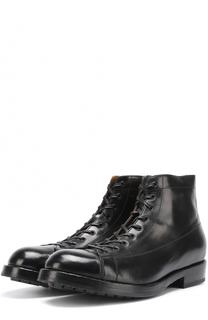 Высокие кожаные ботинки на шнуровке Officine Creative