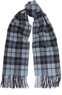 Кашемировый шарф с бахромой Kiton