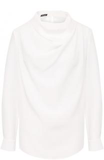 Шелковая блуза с драпировкой Kiton