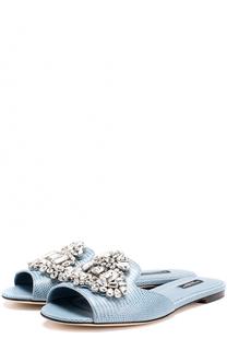 Кожаные сабо с кристаллами Dolce & Gabbana