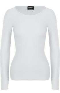 Облегающий пуловер с круглым вырезом Giorgio Armani