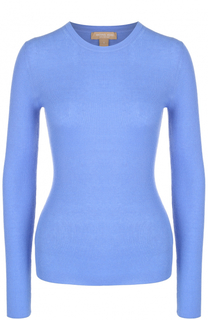 Приталенный кашемировый пуловер фактурной вязки Michael Kors