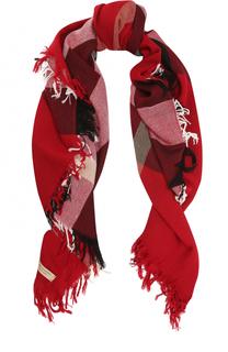 Шерстяной шарф в клетку Burberry