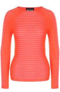 Пуловер фактурной вязки с круглым вырезом Giorgio Armani