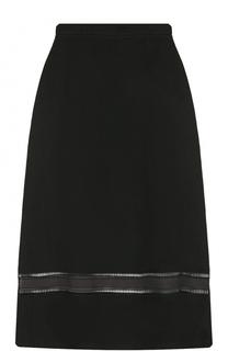 Льняная юбка-миди с перфорацией Ralph Lauren