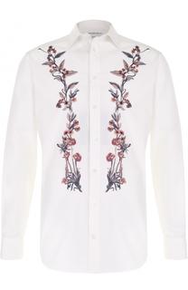 Хлопковая сорочка с вышивкой Alexander McQueen