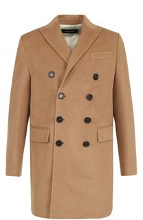 Шерстяное двубортное пальто Dsquared2