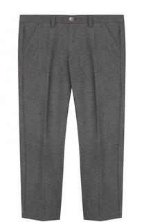 Однотонные брюки прямого кроя Il Gufo