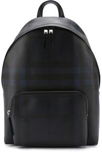 Рюкзак в клетку London Check с отделкой из натуральной кожи Burberry