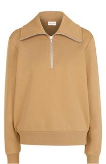 Хлопковый пуловер с воротником на молнии Dries Van Noten