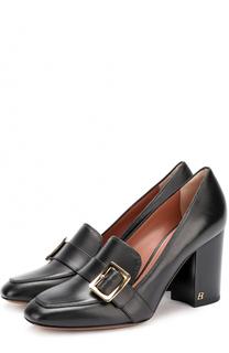 Кожаные туфли с пряжкой на устойчивом каблуке Bally