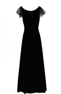 Приталенное платье-макси с открытой спиной No. 21