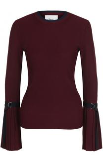 Пуловер с круглым вырезом и расклешенными рукавами 3.1 Phillip Lim