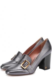 Туфли из металлизированной кожи на устойчивом каблуке Bally