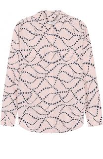 Шелковая блуза с принтом в виде звезд Equipment