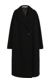 Шерстяное пальто свободного кроя MCQ