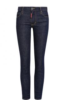 Укороченные джинсы-скинни с контрастной прострочкой Dsquared2