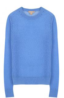 Полупрозрачный кашемировый пуловер с круглым вырезом Michael Kors