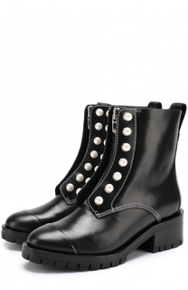 Кожаные ботинки с отделкой жемчужинами 3.1 Phillip Lim