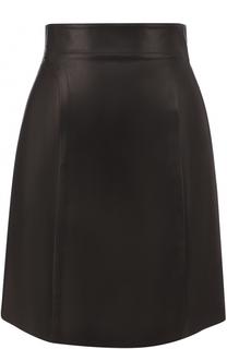 Кожаная мини-юбка Alaia
