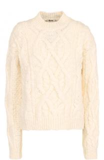 Шерстяной пуловер фактурной вязки Acne Studios