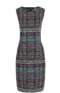 Приталенное буклированное платье без рукавов St. John