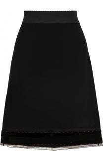 Юбка-миди с широким эластичным поясом Dolce & Gabbana