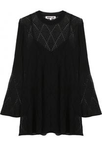 Вязаное мини-платье свободного кроя MCQ