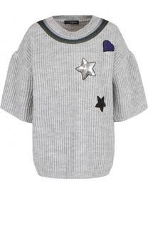 Пуловер фактурной вязки с укороченным рукавом Pietro Brunelli