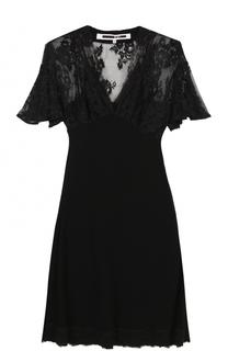 Приталенное мини-платье с V-образным вырезом MCQ