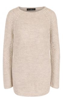 Удлиненный пуловер фактурной вязки Pietro Brunelli