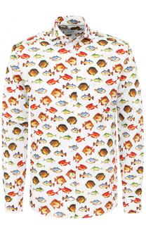 Хлопковая рубашка с принтом Eton