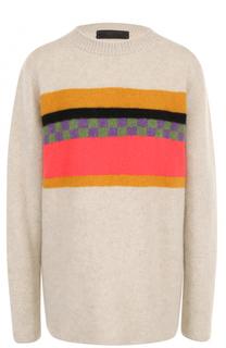Кашемировый пуловер прямого кроя с круглым вырезом The Elder Statesman