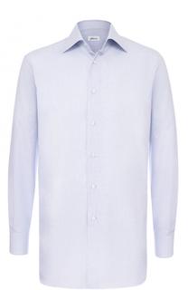 Классическая сорочка из смеси хлопка и шелка Brioni