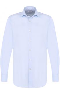 Хлопковая сорочка с воротником кент Kiton