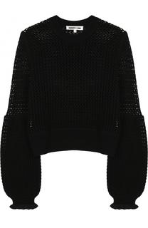 Шерстяной пуловер фактурной вязки MCQ