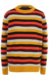 Кашемировый пуловер в полоску с круглым вырезом The Elder Statesman