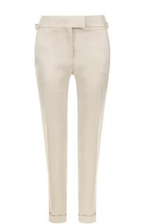 Укороченные брюки со стрелками и отворотами Tom Ford