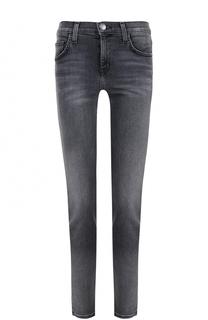 Укороченные джинсы-скинни с потертостями Current/Elliott