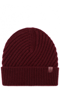 Шерстяная шапка фактурной вязки Giorgio Armani