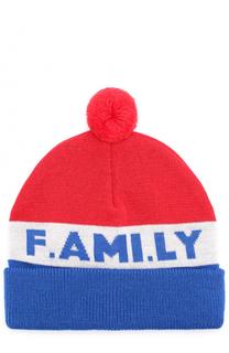 Шерстяная шапка с помпоном Ami