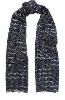 Шелковый палантин с металлизированной нитью St. John