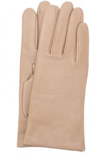 Кожаные перчатки с подкладкой из кашемира и шерсти Agnelle
