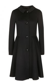 Приталенное пальто с отложным воротником Armani Collezioni