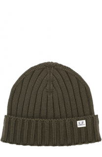 Шерстяная шапка фактурной вязки C.P. Company