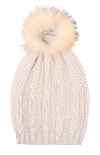 Вязаная шапка из шерсти и кашемира с помпоном Artiminesi