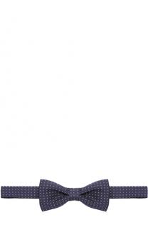 Шелковый галстук-бабочка с узором Dal Lago