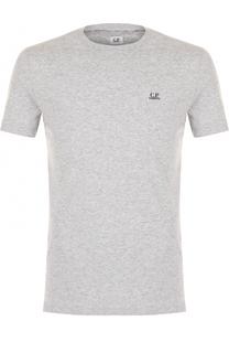 Хлопковая футболка с принтом на спине C.P. Company